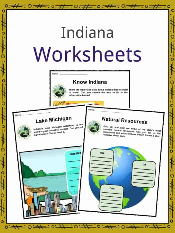 Indiana Worksheets