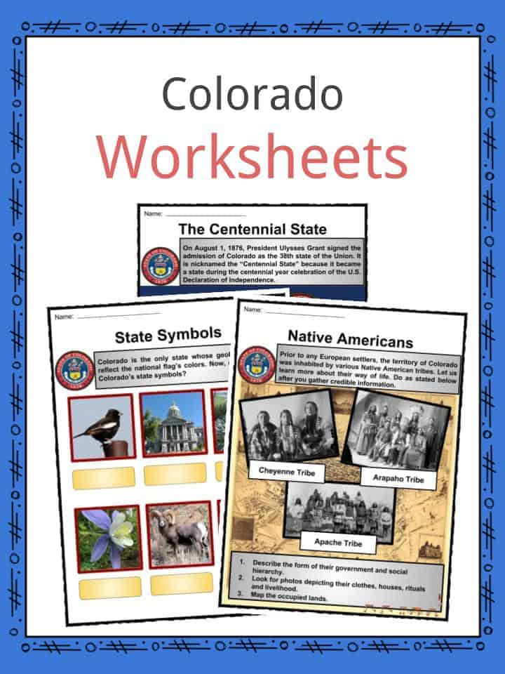 Colorado Worksheets