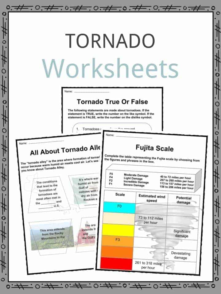 Tornado Worksheets