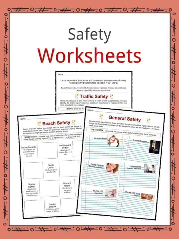 Safety Facts Worksheets General Advice And Information For Kids