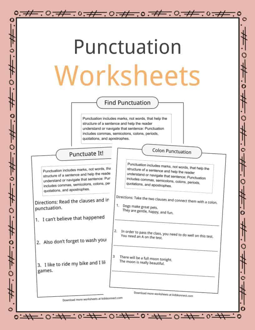 It is an image of Free Printable Punctuation Worksheets regarding 4th grade