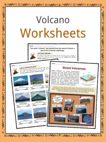 Volcano Worksheets