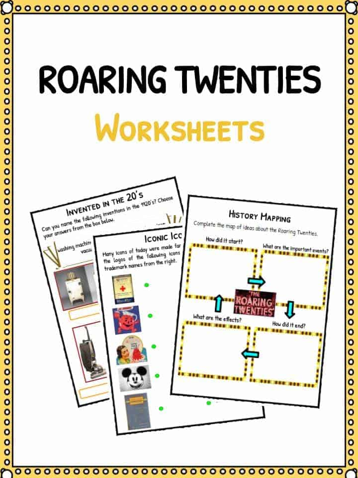 Roaring Twenties Worksheets