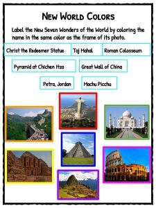 Seven Wonders of the World Facts & Worksheets | KidsKonnect  |7 Wonders Of The World 2012 With Name