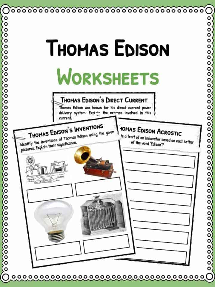 Thomas Edison Worksheets