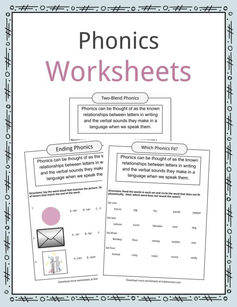 Phonics Table Worksheets Examples Definition For Kids