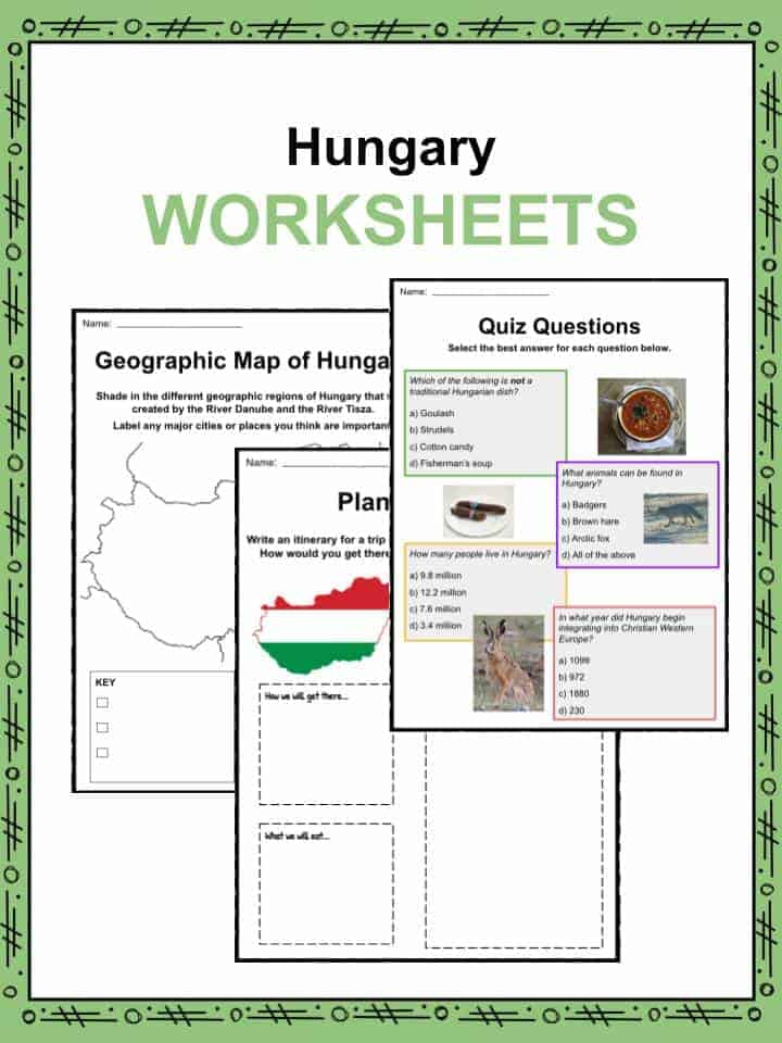 Hungary Worksheets