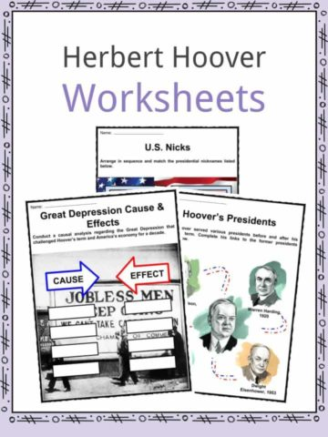 Herbert Hoover Worksheets