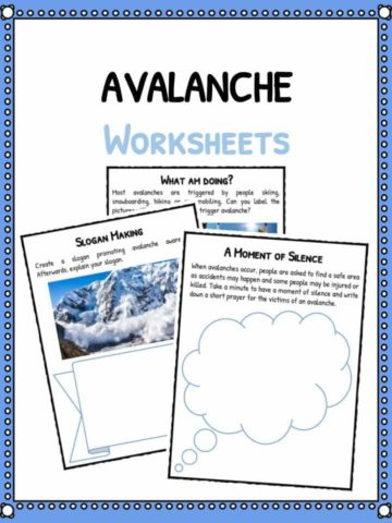 Avalanche Facts & Worksheets