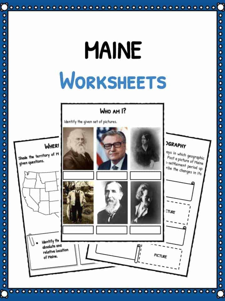 Maine (State) Worksheets