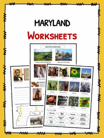MARYLAND Facts & Worksheets