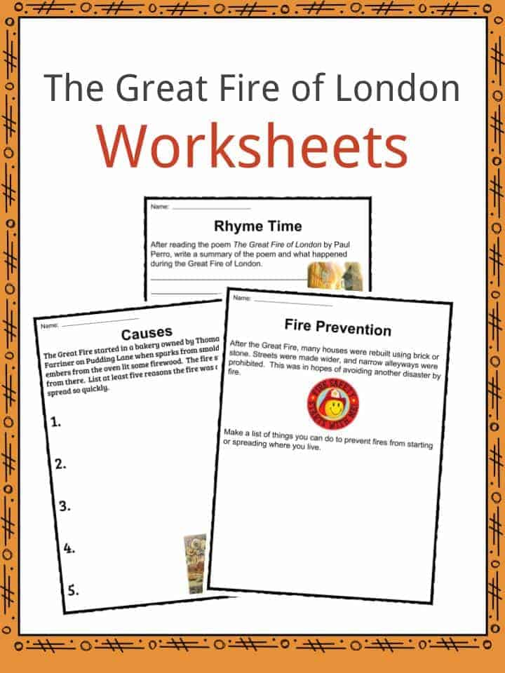 The Great Fire of London Worksheets