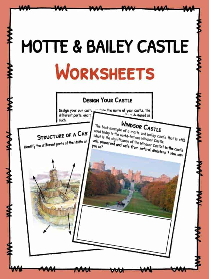 Motte and Bailey Castle Worksheets