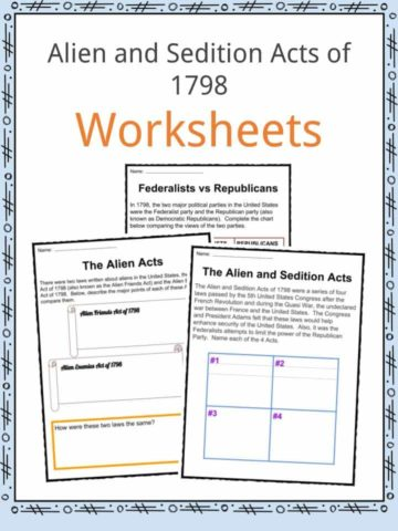 Alien & Sedition Acts Worksheets