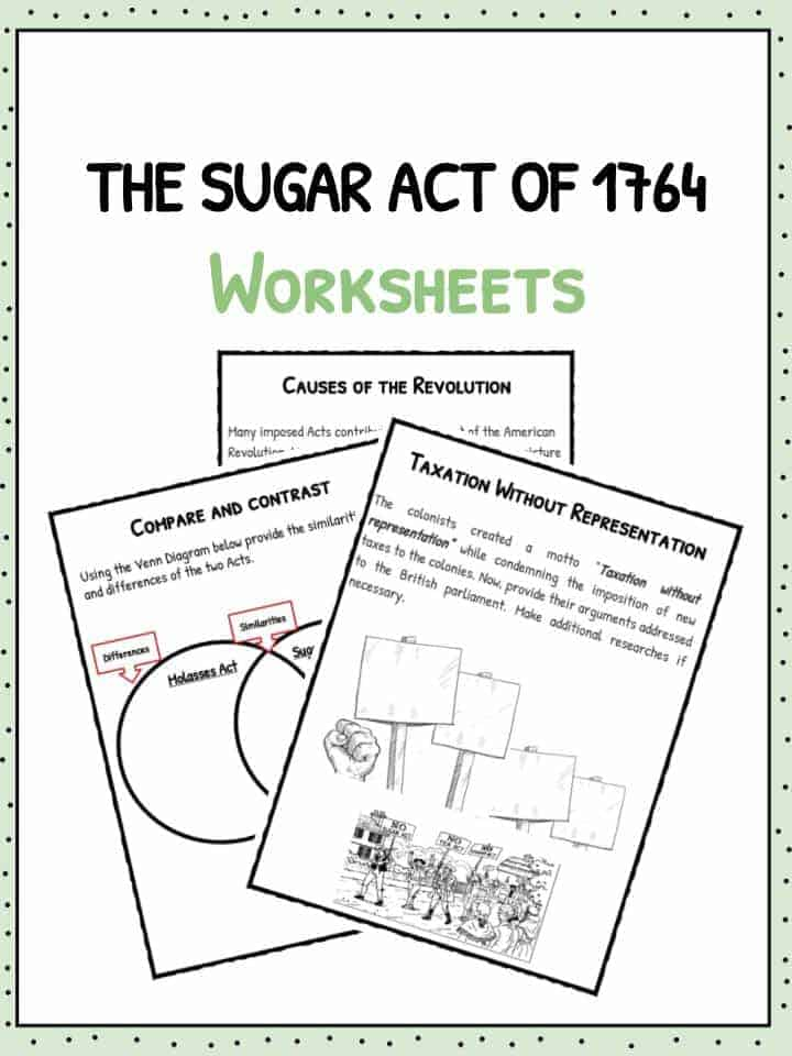 The Sugar Act of 1764 Worksheets