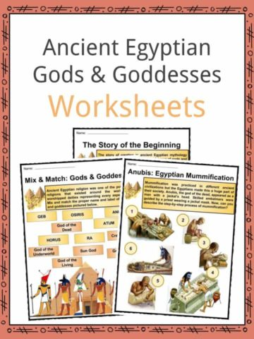 Ancient Egyptian Gods and Goddesses Worksheets