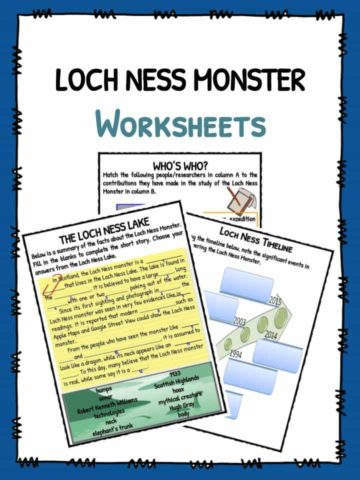 Loch Ness Monster Worksheets