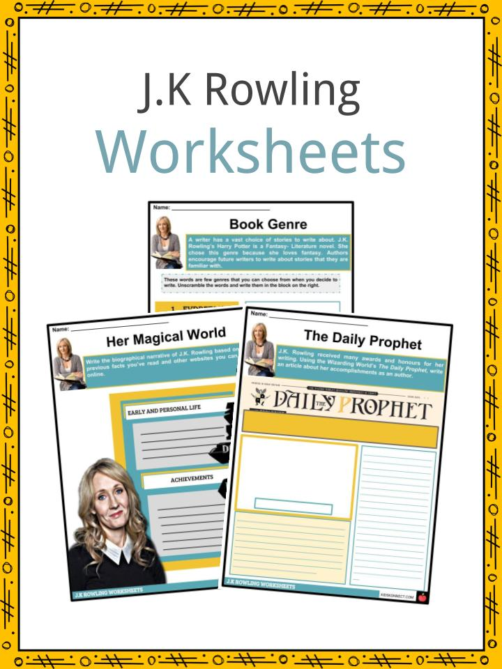 J.K Rowling Worksheets