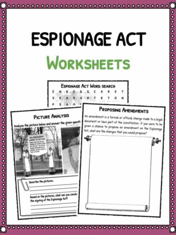 Espionage Act Facts & Worksheets