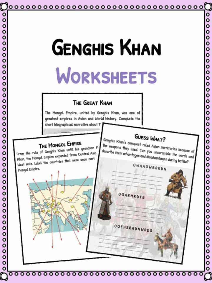 Genghis Khan Facts & Worksheets