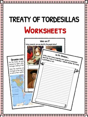 Treaty of Tordesillas Facts & Worksheets