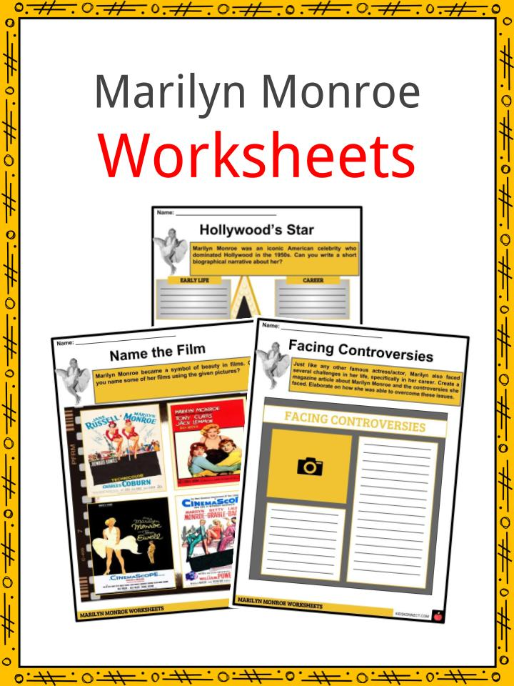 Marilyn Monroe Worksheets