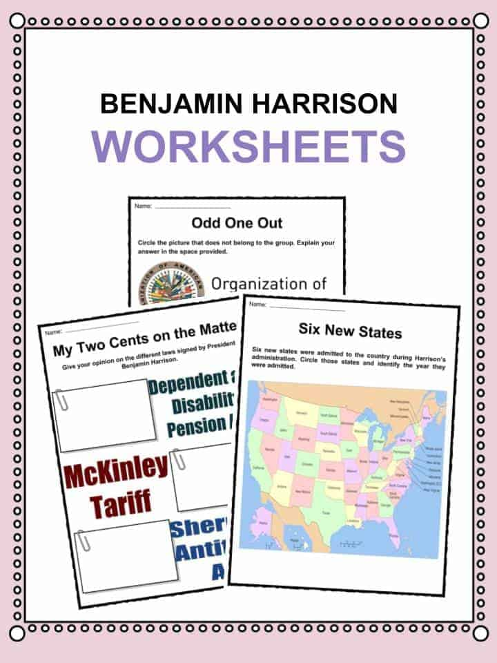 Benjamin Harrison Worksheets