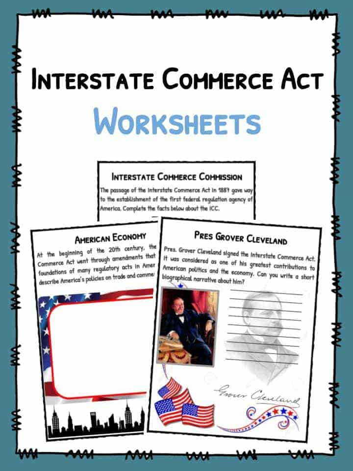 Interstate Commerce Act Worksheets