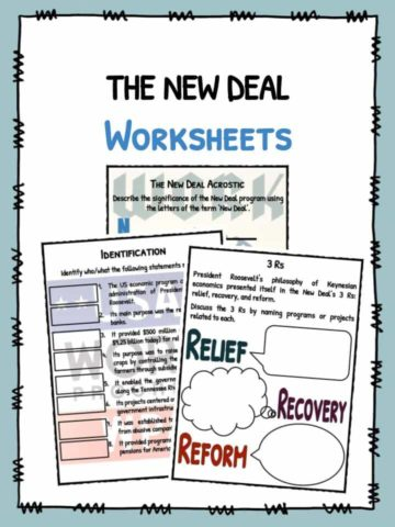The New Deal Worksheets