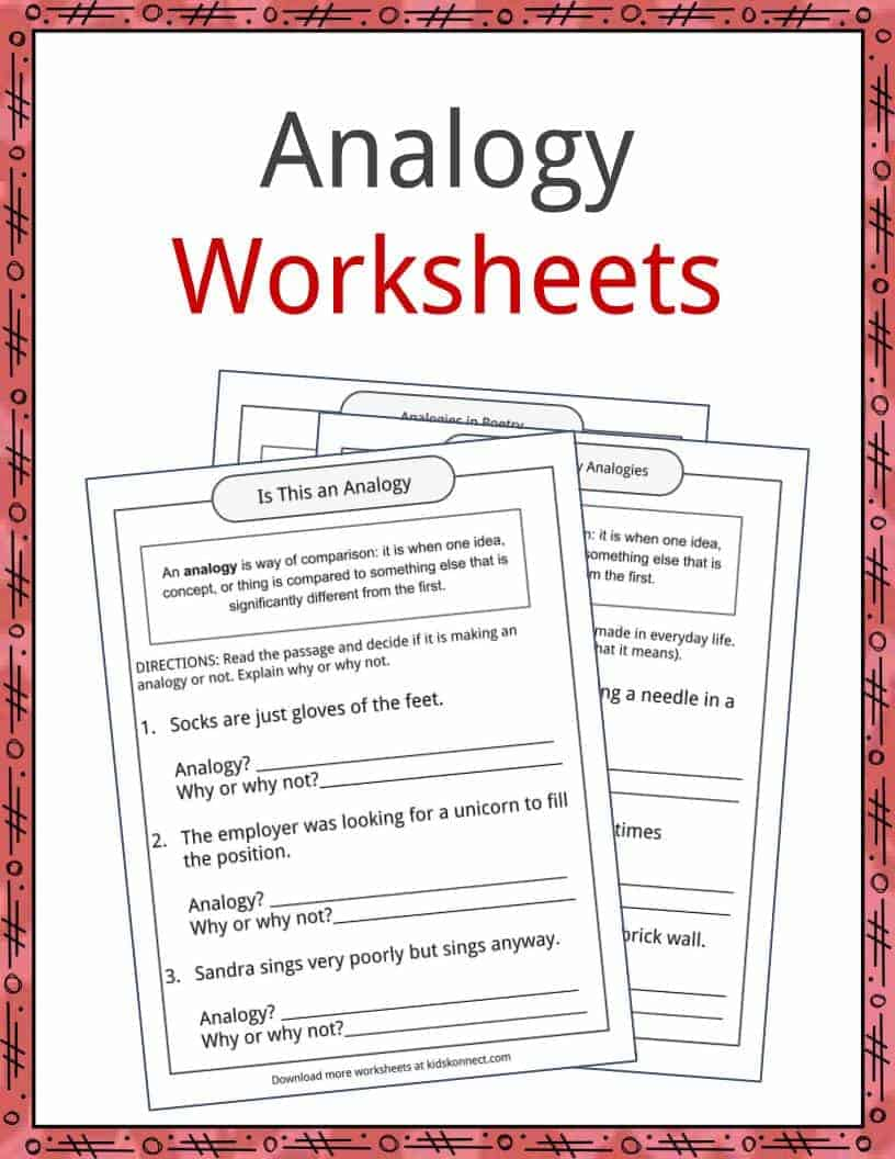 Analogy Examples Definition And Worksheets Kidskonnect