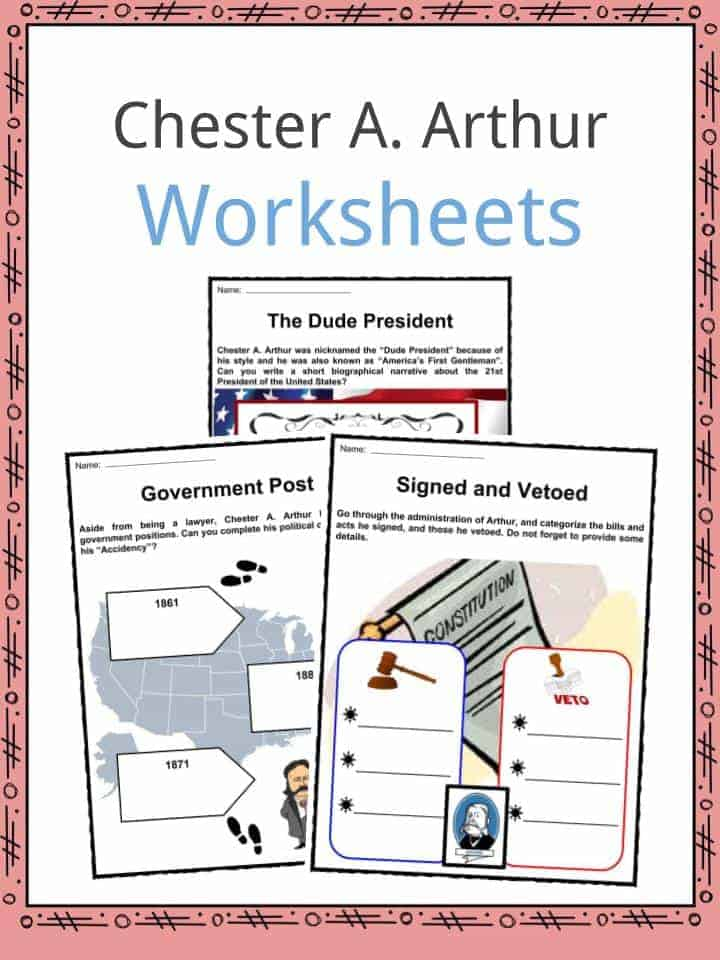 Chester A. Arthur Worksheets