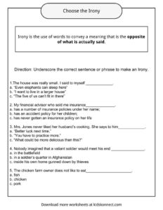 Irony Examples Definition And Worksheets Kidskonnect Ereadingworksheets.com is a fairly popular website with approximately 718k visitors monthly, according to alexa, which gave it a very. irony examples definition and