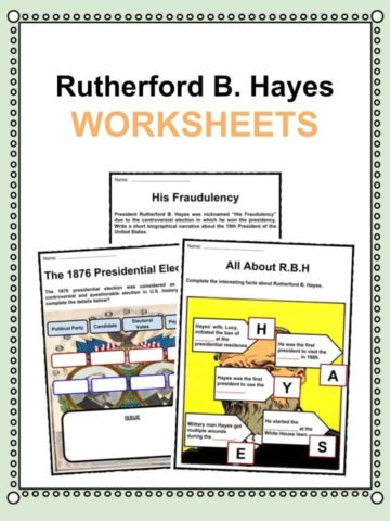 Rutherford B. Hayes Worksheets