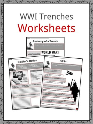 WWI Trenches Worksheets