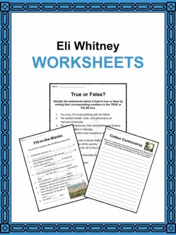Eli Whitney Worksheets
