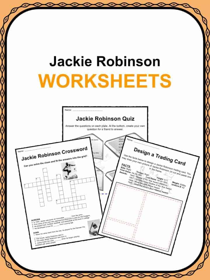Jackie Robinson Worksheets
