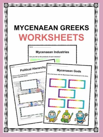 Mycenaean Greeks Worksheet