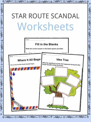 Star Route Scandal Worksheets