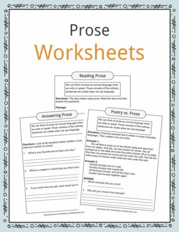 Prose Worksheets