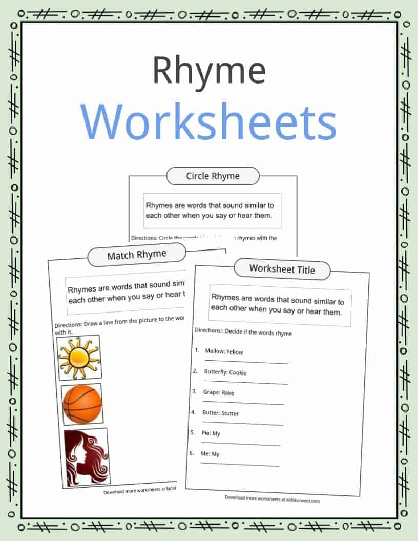 - Rhyme Examples, Worksheets & Definition For Kids