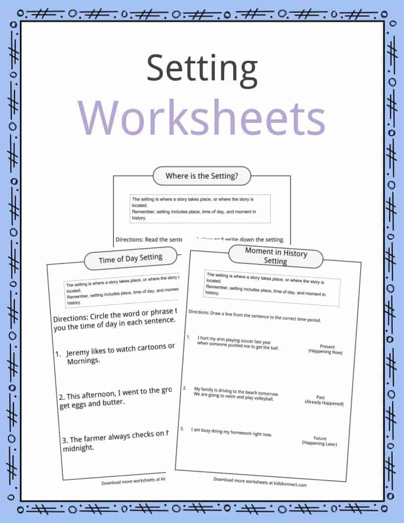 - Story Setting Examples, Definition & Worksheets For Kids