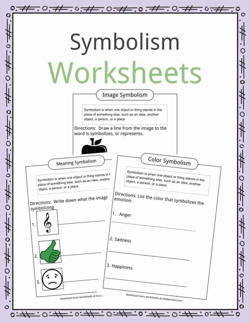 Symbolism Worksheets