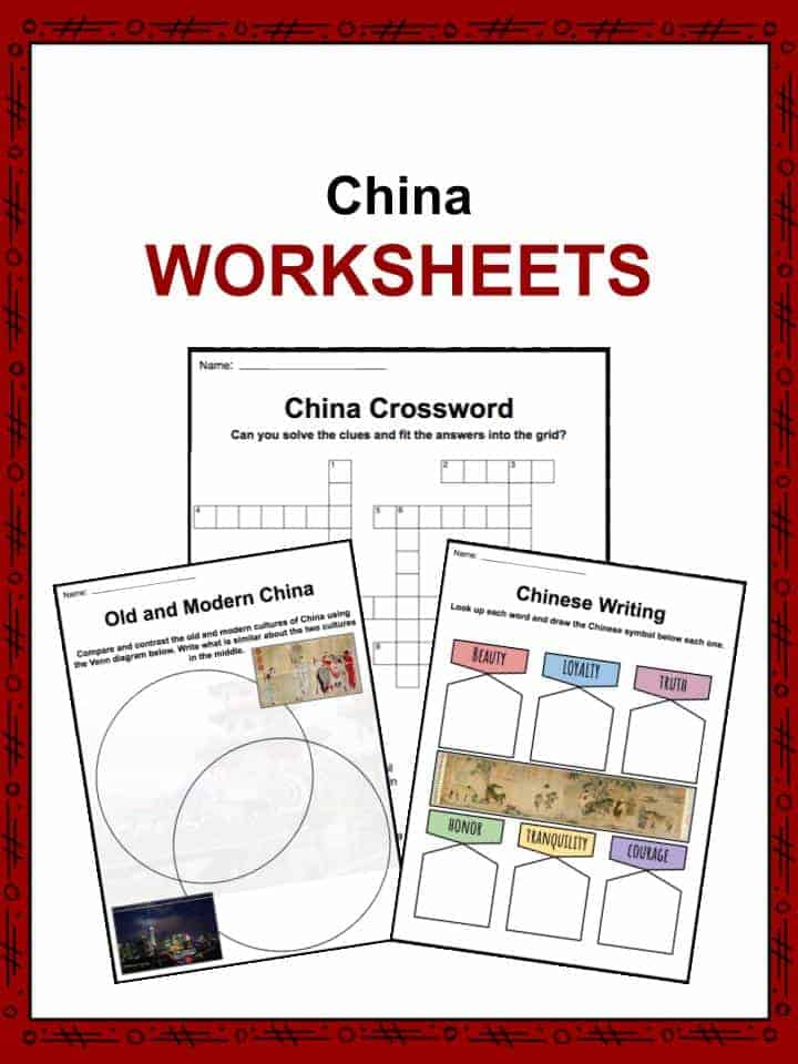 China Facts, Worksheets, Economy, Culture & History For Kids