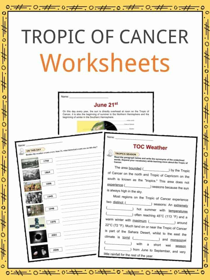 Tropic Of Cancer Worksheets
