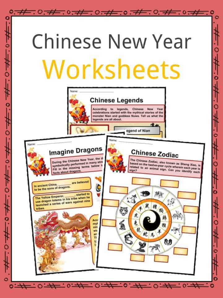 Chinese New Year Worksheets, Facts & Information For Kids