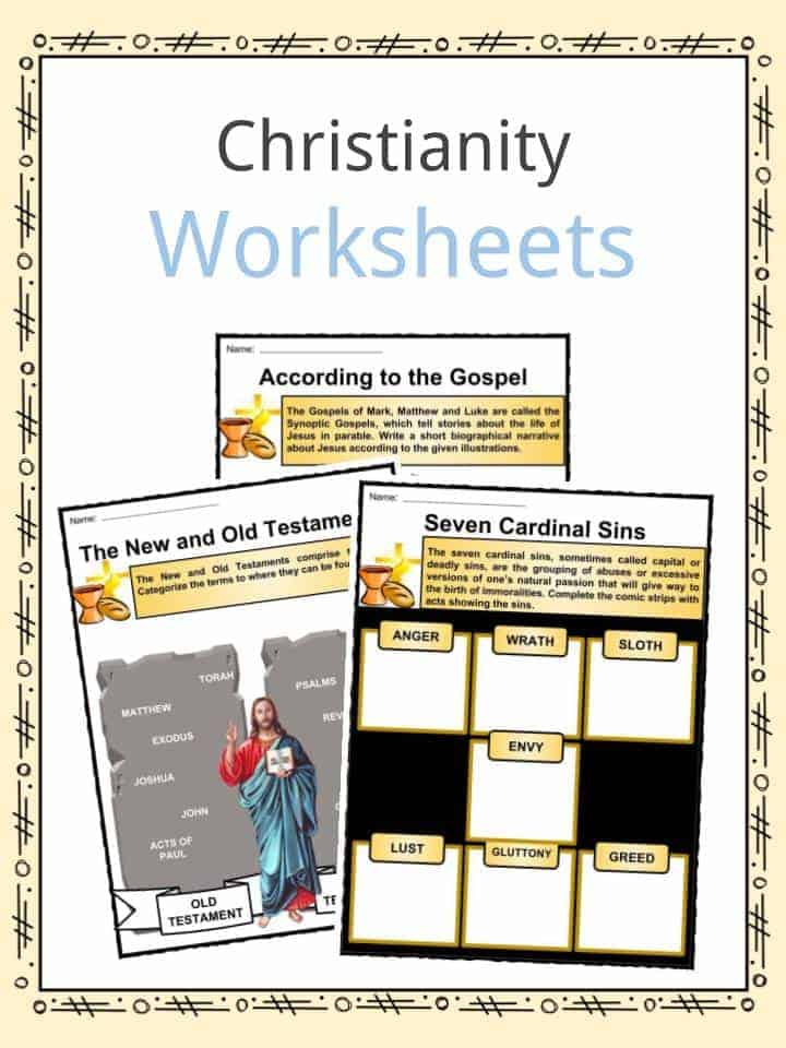Christianity Worksheets