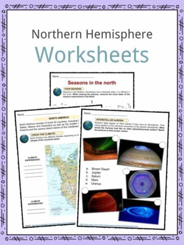 Northern Hemisphere Worksheets