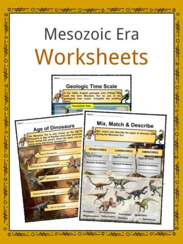 Mesozoic Era Worksheets