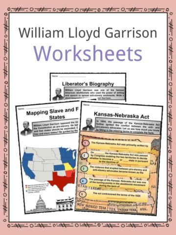 William Lloyd Garrison Worksheets