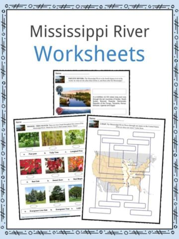 Mississippi River Worksheets